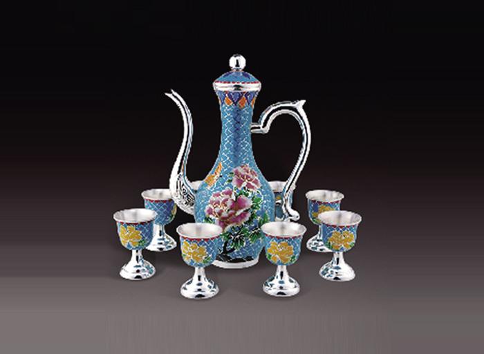 景泰蓝银水壶