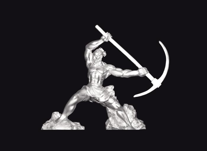 愚公移山纯银雕塑